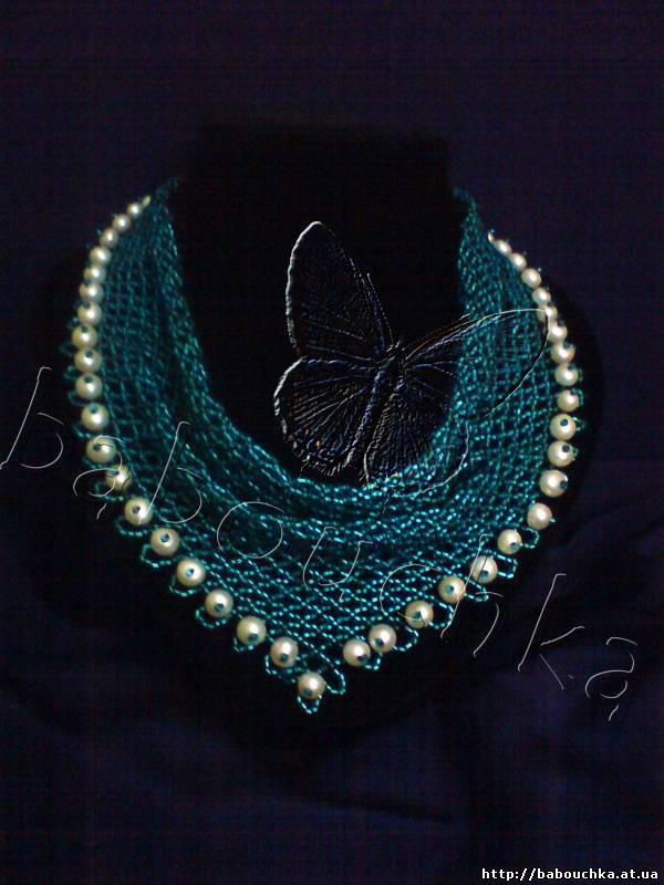Косынка из бисера и вышивка перед вами схема плетения красивой косынки из колье из ленты, украшенное камнями очень...